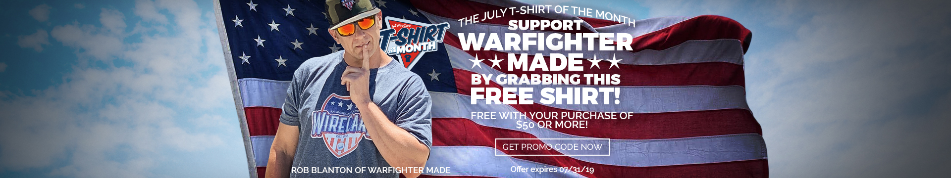 T-shirt of the Month and Warfighter Made
