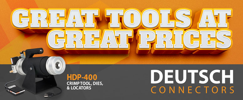 Deutsch HDP-400 Crimp Tool, Dies, and Locator