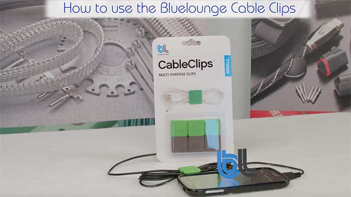 Video wc bluelounge cable clips