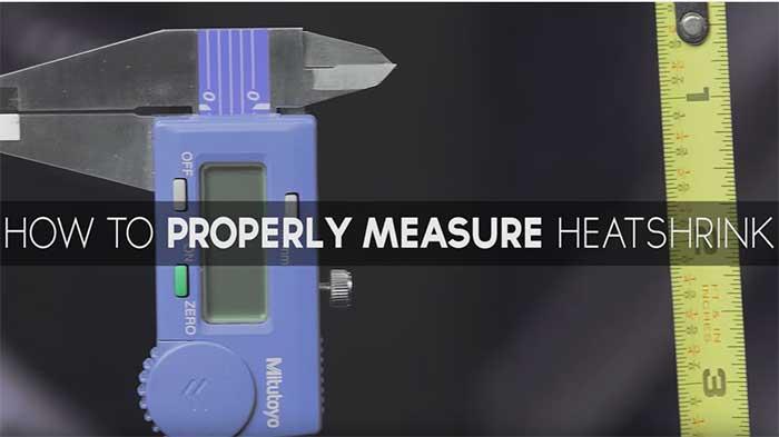 Video wc measure heatshrink