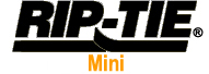 Rip-Tie Mini Cable Ties Logo