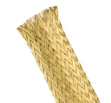 MBB - Metal Braid Bare Brass Expandable Sleeving