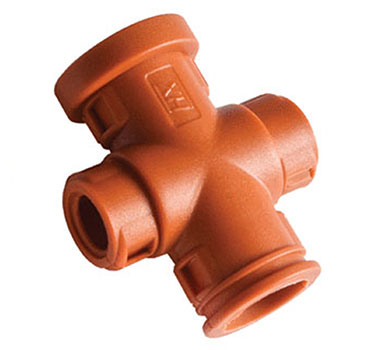 Harnessflex Two Piece X Configuration Hinged Fitting