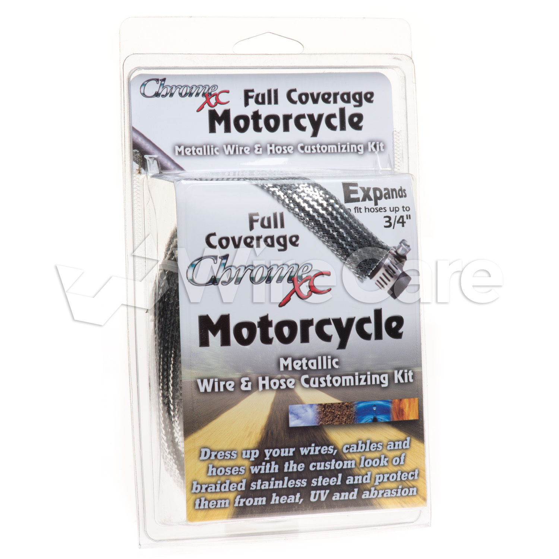 Motorcycle Wirehose Kit 3 Sizes Chrome Custom Wiring Harness Ujn000sv