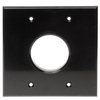 RWD0.00BK - Low Profile Plate 2G, Round Hole, Wire Exit Plate, Black
