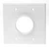 RWD0.00WH - Low Profile Plate 2G, Round Hole, Wire Exit Plate, White