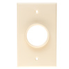 RWS0.00BE - Low Profile Plate 1G, Round Hole, Wire Exit Plate, Beige
