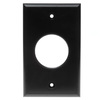 RWS0.00BK - Low Profile Plate 1G, Round Hole, Wire Exit Plate, Black
