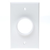 RWS0.00WH - Low Profile Plate 1G, Round Hole, Wire Exit Plate, White
