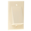SWS0.00BE - Square Profile Plate 1G, Square Hole, Wire Exit Plate,Beige