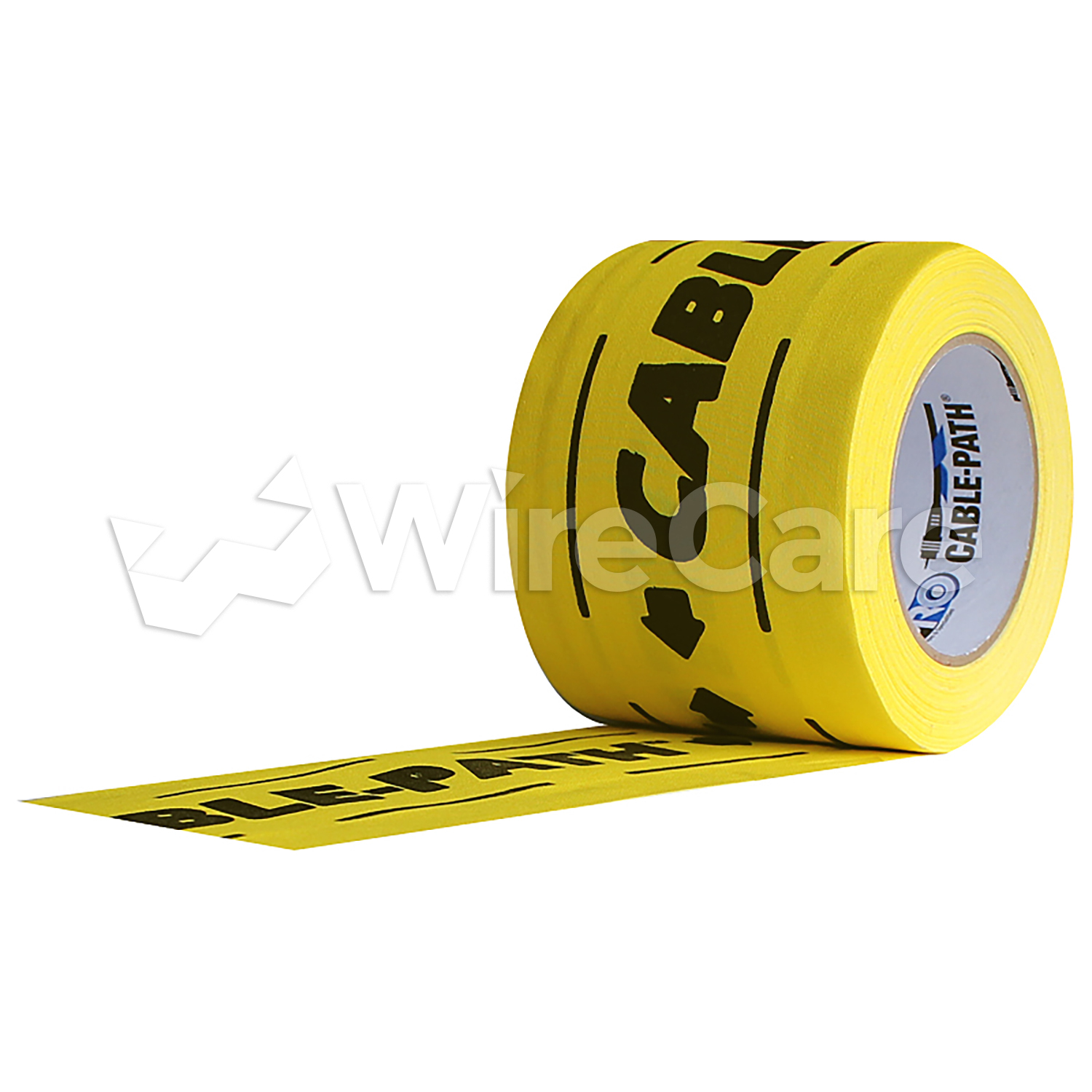 3 Inch wide Yellow with Black Print Cable Patch Tape