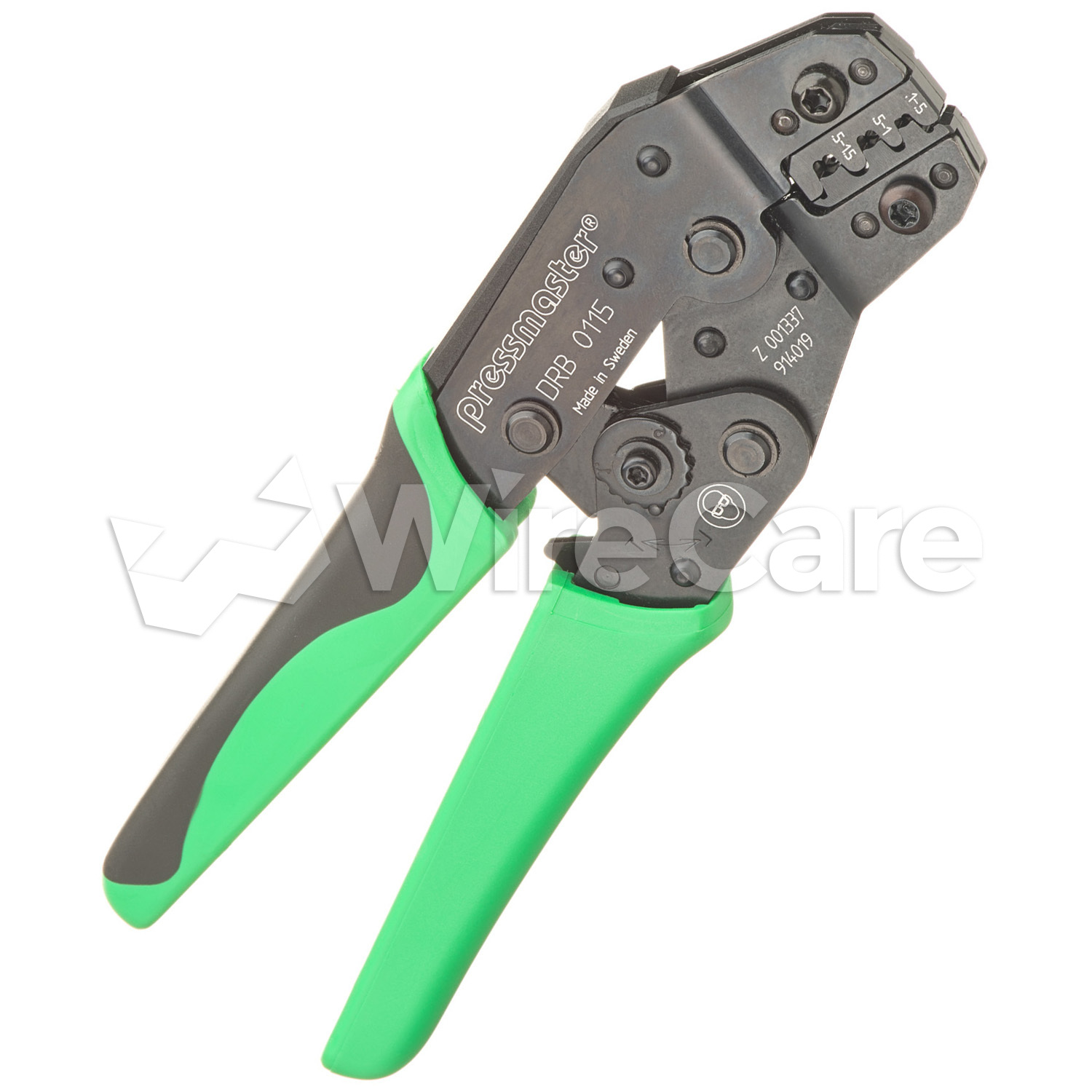 DRB-0115 - Crimper for Non-Insulated Open Barrel Terminals and Lugs, 16-26 AWG.
