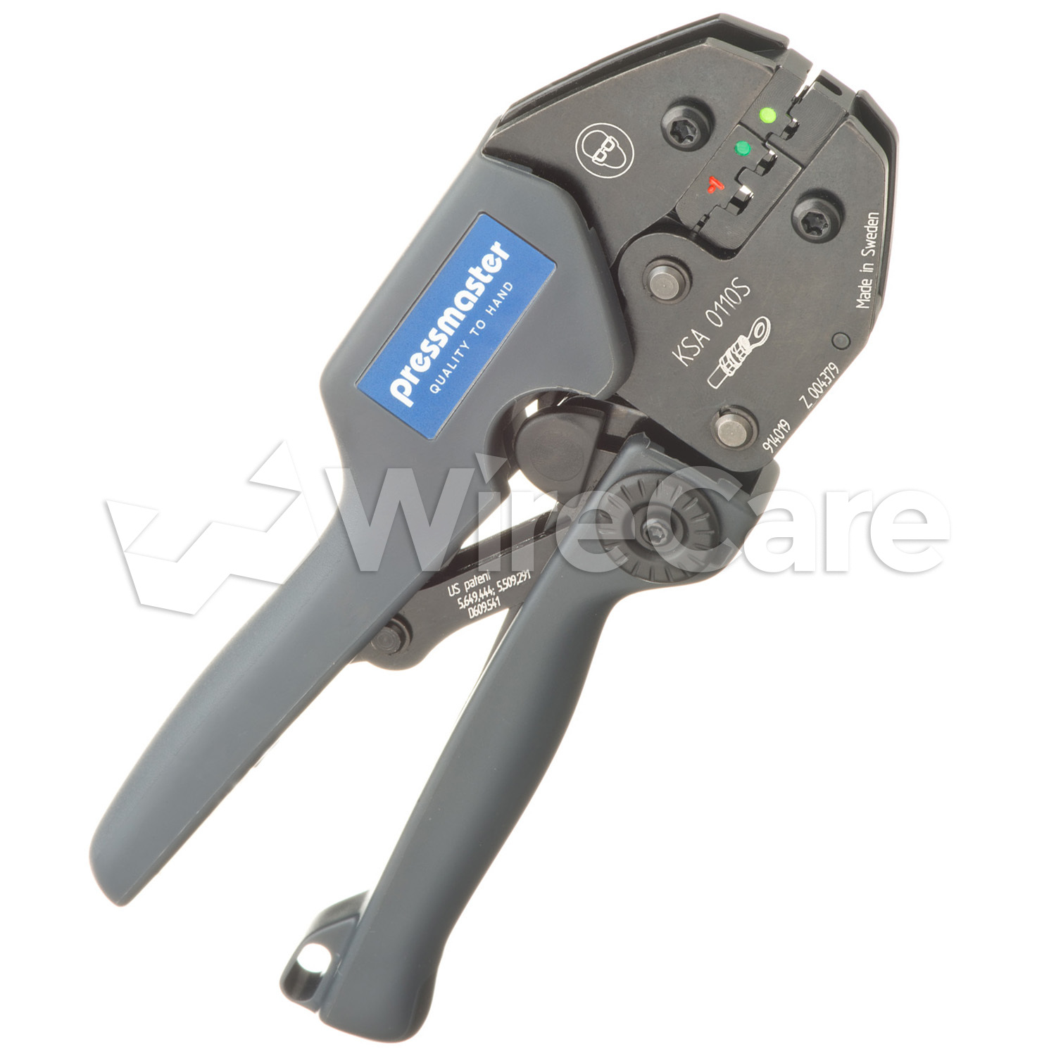 Ksa 0110s Ergonomic Crimper For Insulated Terminals And Splices 16 26 Awg