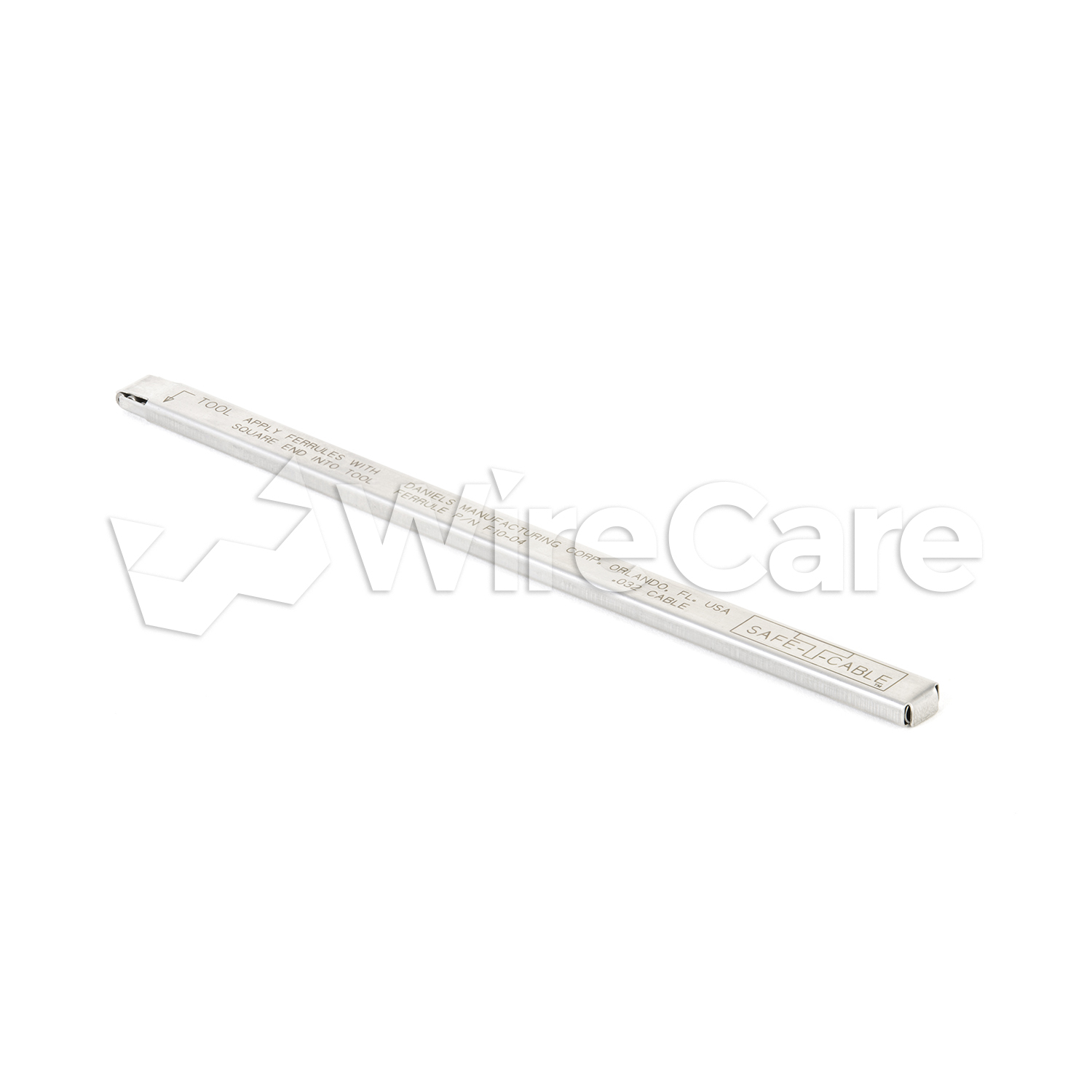 Safe T Cable Elongated Ferrules 032 Quot Wirecare Com