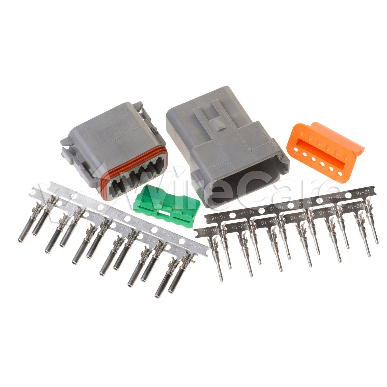 12 Pin Deutsch Connector: Deutsch 12 Pin (Male & Female) Connector Kit