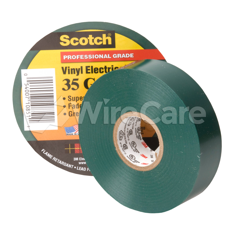 3M Vinyl Electrical Tape Green - WireCare com